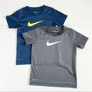 Nike Dri Fit Short Sleeve Shirts (2) Boys